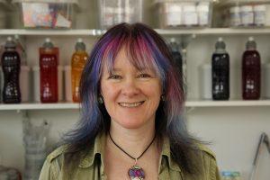 Debbie Tomkies of DT Craft & Design in the dye studio