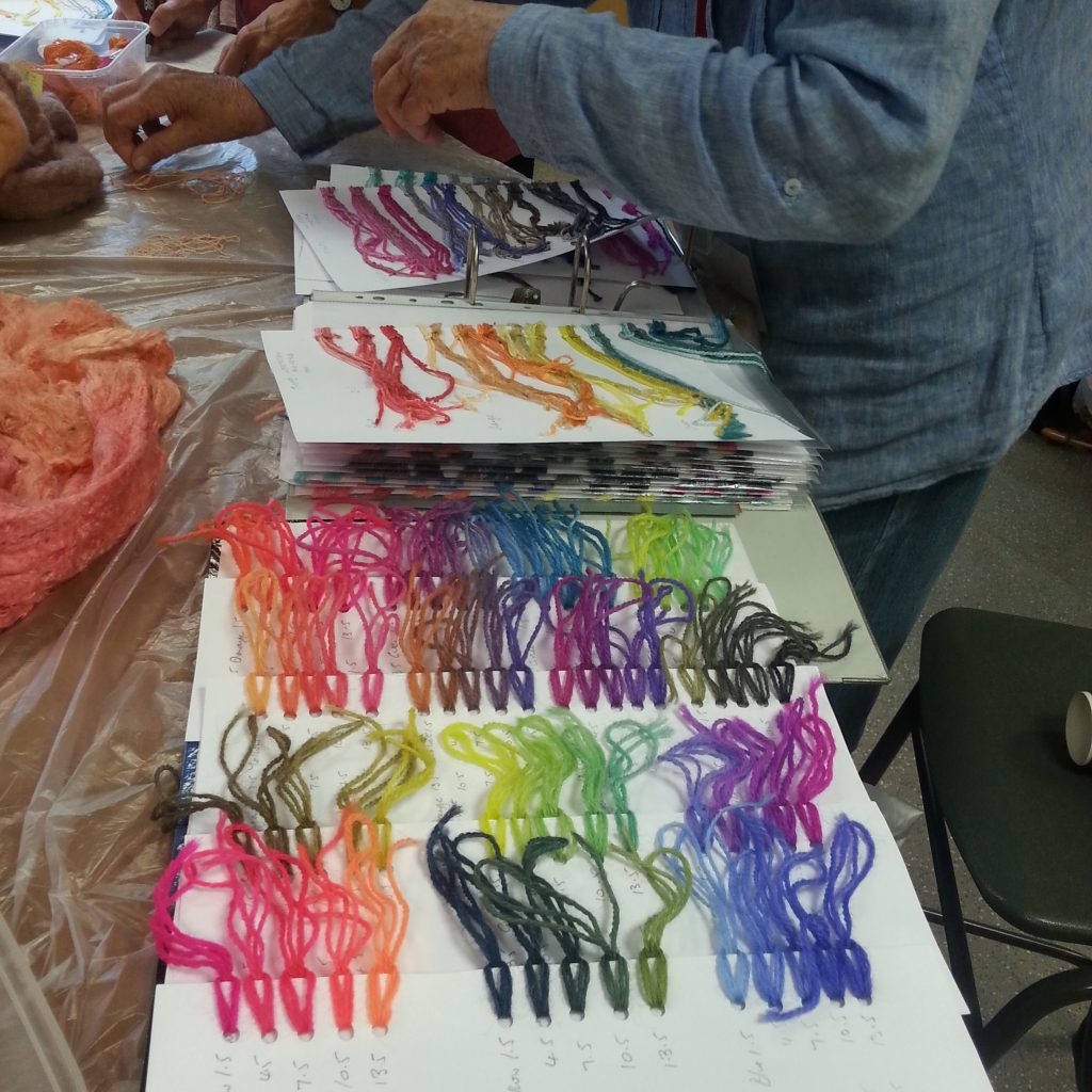 DT Craft and design hue and dye acid milling dye colour samples