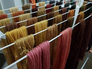 DT Craft and Design - skeins of naturally dyed yarn