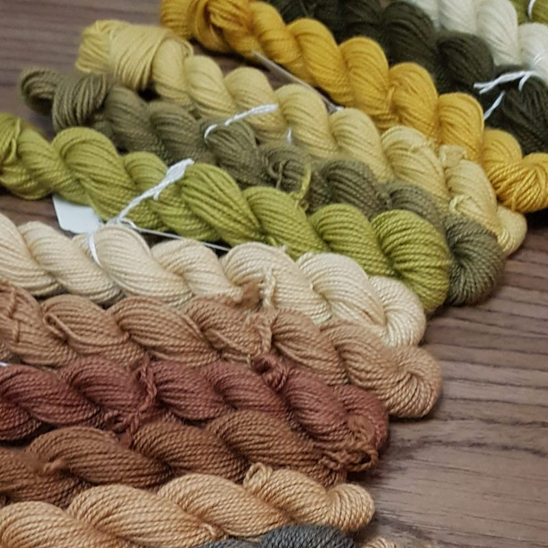DT Craft and Design - Naturally dyed yarn skeins using our natural dye extracts