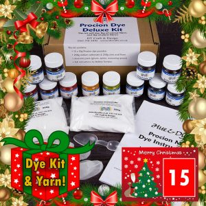 DT Craft & Design - 20 Days of Christmas Countdown - Day 15 - Procion dye deluxe kit