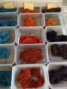 Natural dyeing samples 2