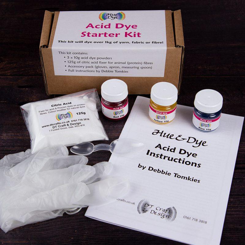 DT Craft and Design - Hue and Dye Acid Dye Starter Kit