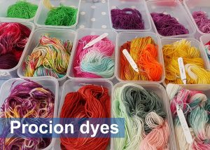 DT Craft and Design - Hue and Dye procion mx fibre reactive dyes - perfect for hand-dyeing both animal (protein) and plant (cellulose) fibres - individual dyes and kits