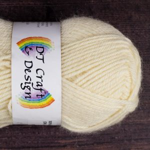 DT Craft and Design 100% superwash wool DK (cream) 50g