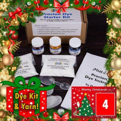 DT Craft & Design - 20 Days of Christmas countdown - procion dye kit and yarn