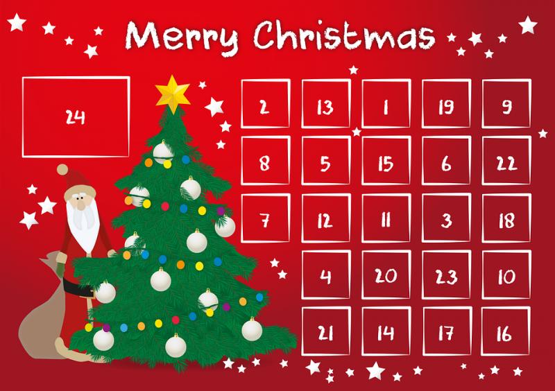 dt craft and design xmas tree advent calendar