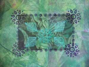 DT Craft & Design - block printing on fabric with DT Crafts handmade wooden print blocks