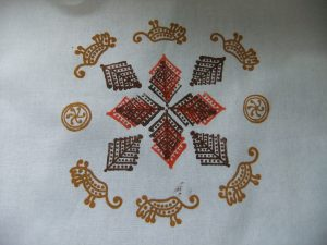 DT Craft and Design - blockprinted images using handmade wooden blockprinting stamps