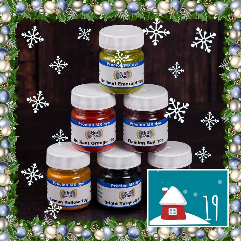 DT Craft & Design - 20 days of christmas countdown - procion mx dyes