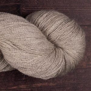 YA208 light grey alpaca silk cashmere laceweight yarn