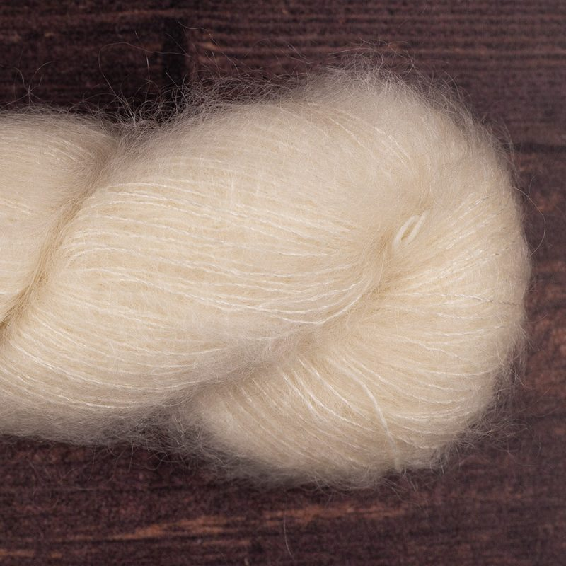 YA209 72% kid mohair 28% silk laceweight undyed yarn
