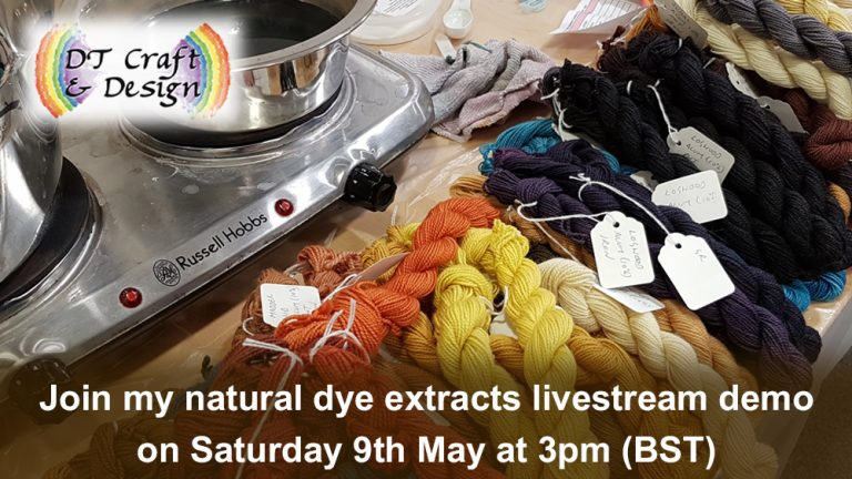 hand-dyeing with natural dye extracts - livestream demo 9 may 20