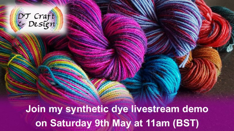 hand-dyeing with acid and procion dyes livestream demo