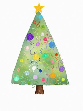DT Crafts gift voucher tree with yarn