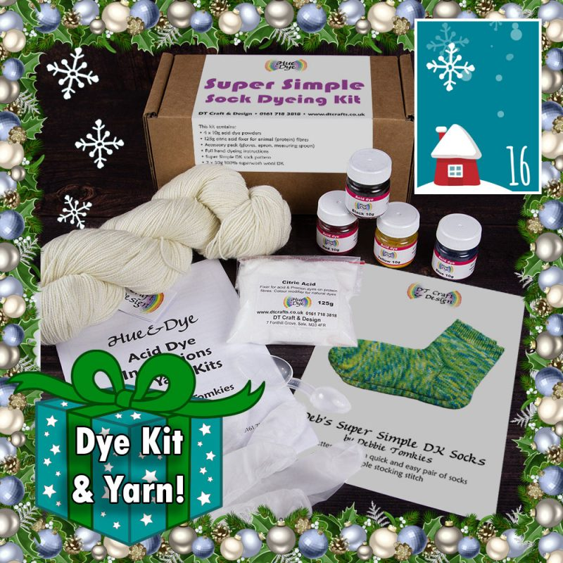 DT Craft and Design 20 Days of Christmas Countdown - Super simple sock dyeing kit