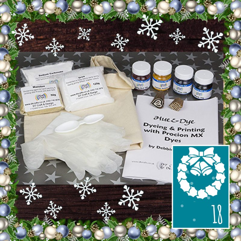 DT Craft & Design - Cotton tote dyeing and printing kit - Countdown to Christmas