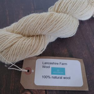 DT Craft and Design undyed yarn lancashire farm wools - natural white dk