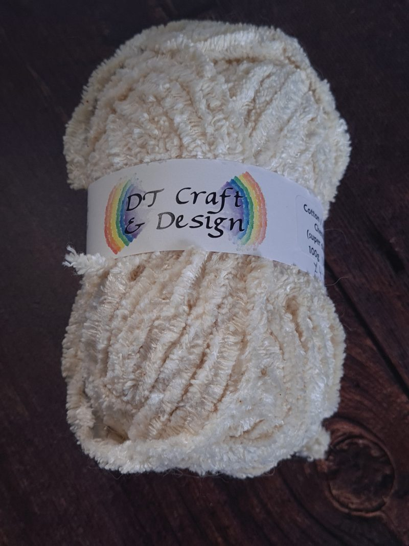 DT Craft and Design undyed yarn viscose cotton chenille super-chunky