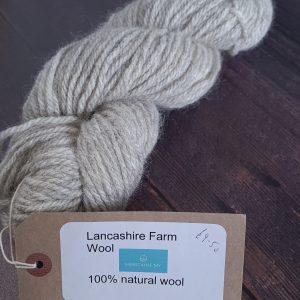 DT Craft and Design undyed yarn lancashire farm wools - natural grey aran