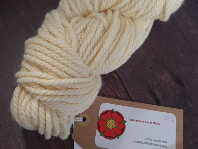 DT Craft and Design undyed yarn lancashire farm wools - cream chunky