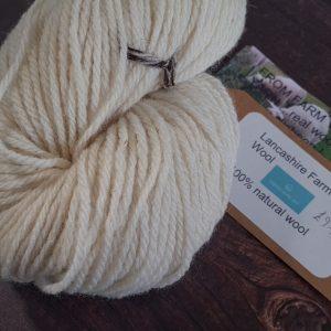 DT Craft and Design undyed yarn lancashire farm wools - natural white aran